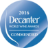 DECANTER WORLD WINE AWARD 2016
